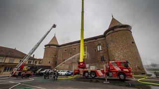 Morges: les pompiers ont mis le feu au château