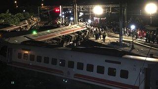 Un train déraille à Taïwan: 18 morts et 175 blessés