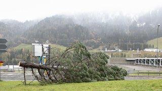 La tempête Vaia balaie la Suisse