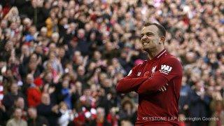 Football: Shaqiri marque un but superbe pour Liverpool qui prend la tête de Premier League