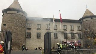 Morges: le château en feu pour un exercice