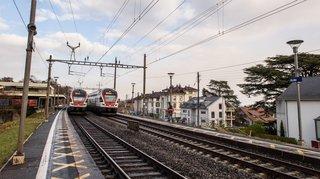 CFF: travaux de modernisation en gare de Rolle et prolongement des quais à Allaman
