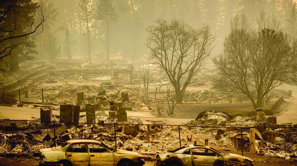 Le feu a démoli la quasi-totalité de Paradise, en Californie, et forcé à l'exil ses 26000 habitants…