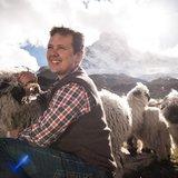 Randonnée jusqu'au troupeau de moutons