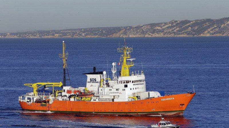 L'Aquarius est actuellement bloqué à Marseille. La justice italienne a demandé qu'il soit mis sous séquestre.