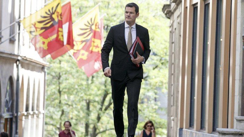 Pierre Maudet a été convoqué par les instances nationales du PLR. Il préfère rester à Genève pour la séance du Conseil d'Etat (archives)