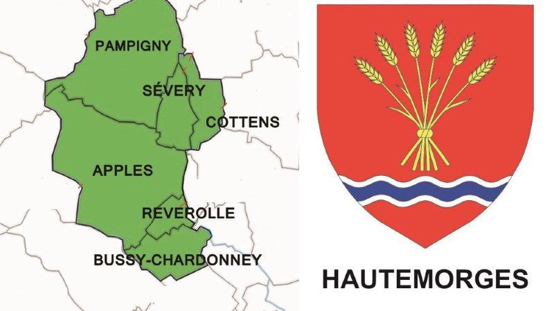 Les communes concernées par le projet de fusion Hautemorges.