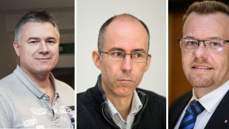 Les trois co-présidents à la tête de ce comité référendaire: Yves Gauthier-Jaques, Olivier Tripet et Sacha Soldini (de g. à dr.).