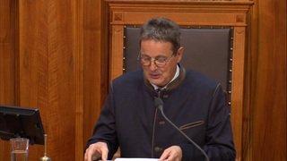 Le PDC valaisan Jean-René Fournier présidera le Conseil des Etats