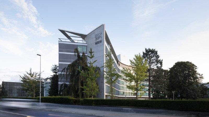 L'une des entrées du personnel du siège de Nestlé a été la cible de vandales (illustration).