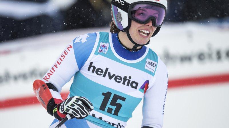 L'impressionnante chute de son frère samedi lors de la descente de Val Gardena a perturbé la skieuse.