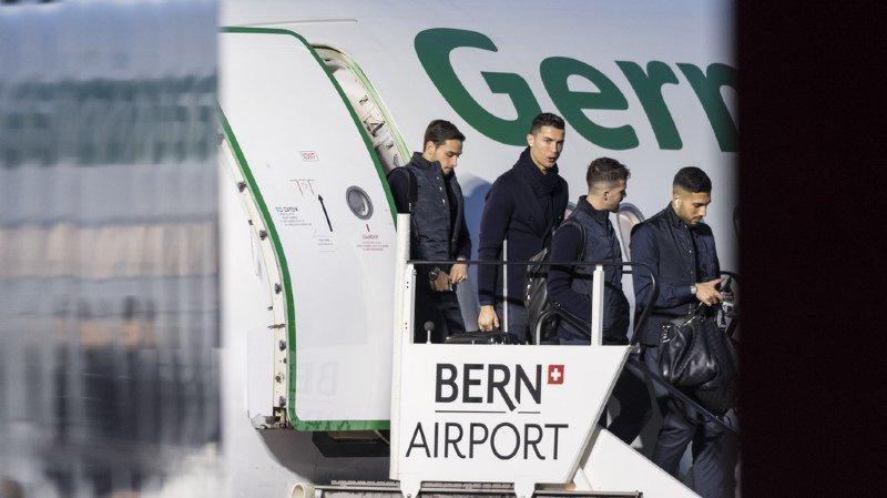 Football: Cristiano Ronaldo accueilli en triomphe par ses fans à Berne