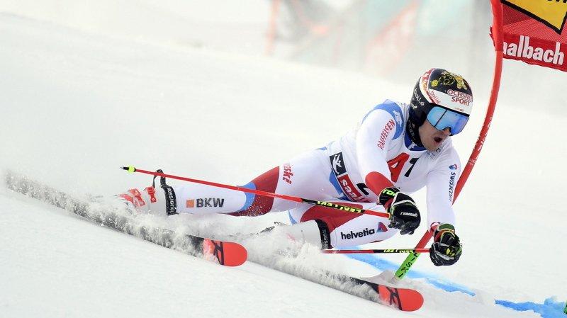 Ski alpin: premier podium pour le Valaisan Loïc Meillard qui termine 2e du géant de Saalbach
