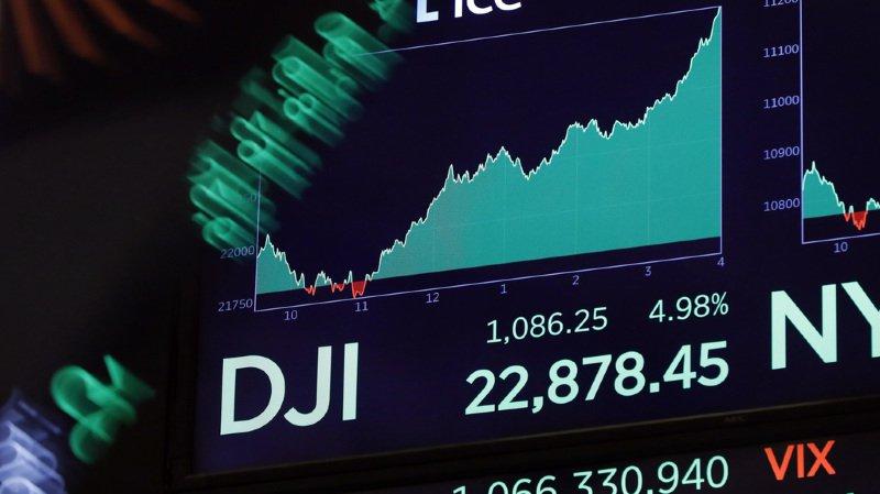 +4,98% pour le Dow Jones et +5,84% pour le Nasdaq.