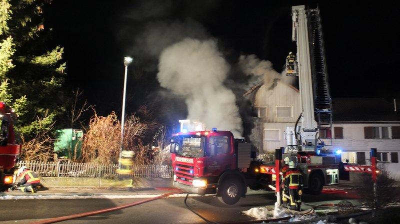 St-Gall: incendie en cours dans un immeuble de la commune de Berneck