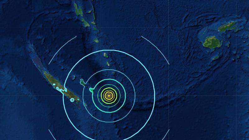 Nouvelle-Calédonie: l'alerte au tsunami levée après le séisme de magnitude 7,6