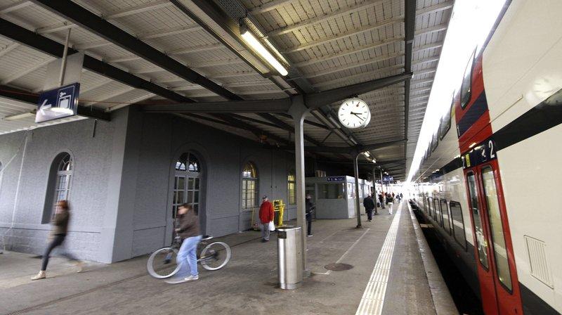 Un train en gare de Nyon (photo d'illustration).