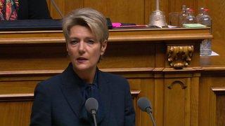 Karin Keller-Sutter prête à collaborer au sein du gouvernement