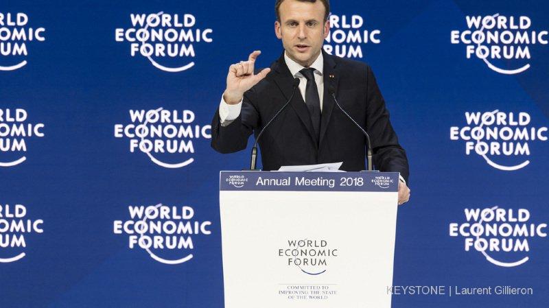 Forum économique de Davos: après Donald Trump, le président français Emmanuel Macron annule à son tour
