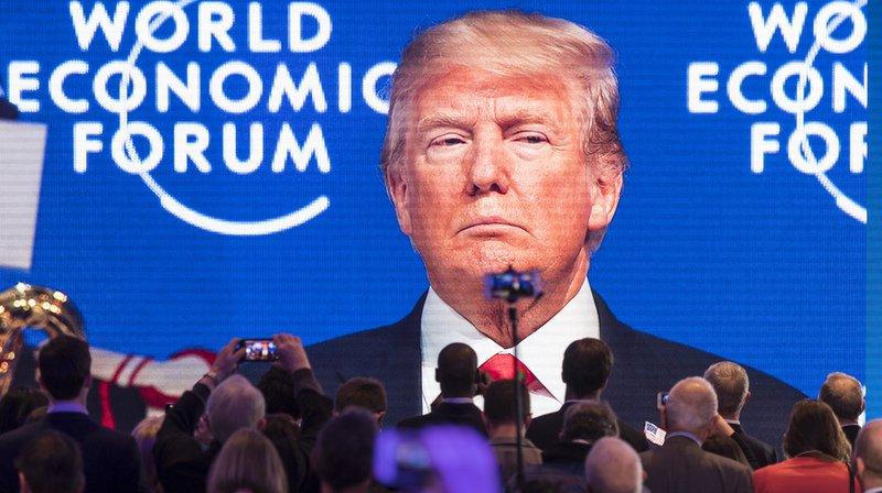 Cette année, le Forum économique mondial de Davos se déroulera sans la présence du président américain (archives).