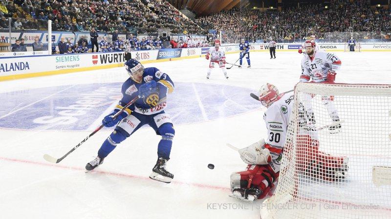 Hockey - Coupe Spengler: les Grisons éliminent les Tchèques 3-1 et se retrouvent en demi-finale