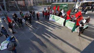 Les manifestations anti-WEF ne rassemblent qu'une poignée de personnes en Suisse romande