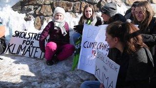 WEF 2019: Greta Thunberg a fait sa grève hebdomadaire à Davos