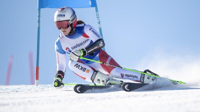 Camille Rast est la nouvelle championne suisse de géant.