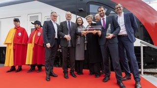Un nouveau train duplex baptisé Ville de Genève