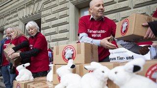 124'000 signatures pour l'initiative contre l'expérimentation animale et humain