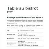 Table au bistrot pro senectute « Chez Yann »