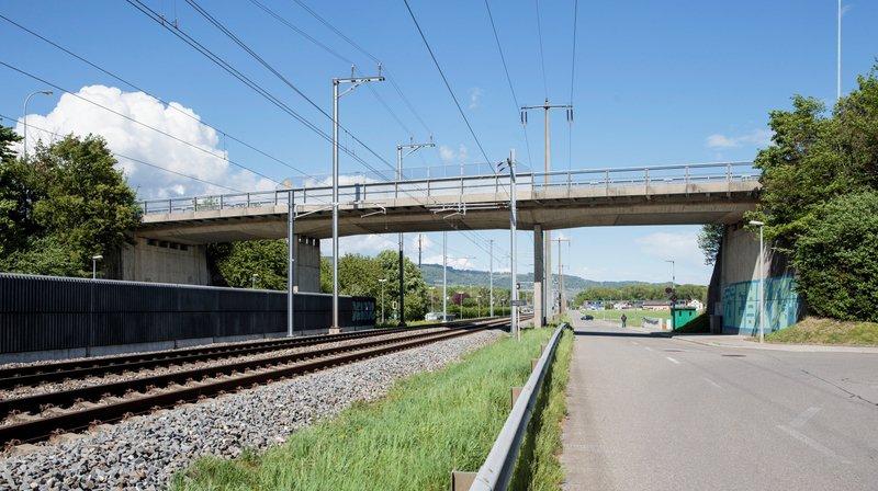 La réfection du pont de la Vy-Creuse bat son plein.