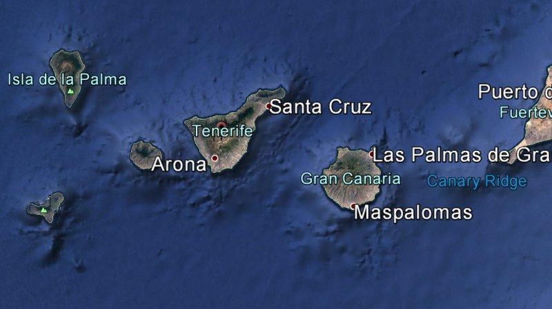 Les deux corps ont été découverts dans une grotte de l'île espagnole de Tenerife aux Canaries.