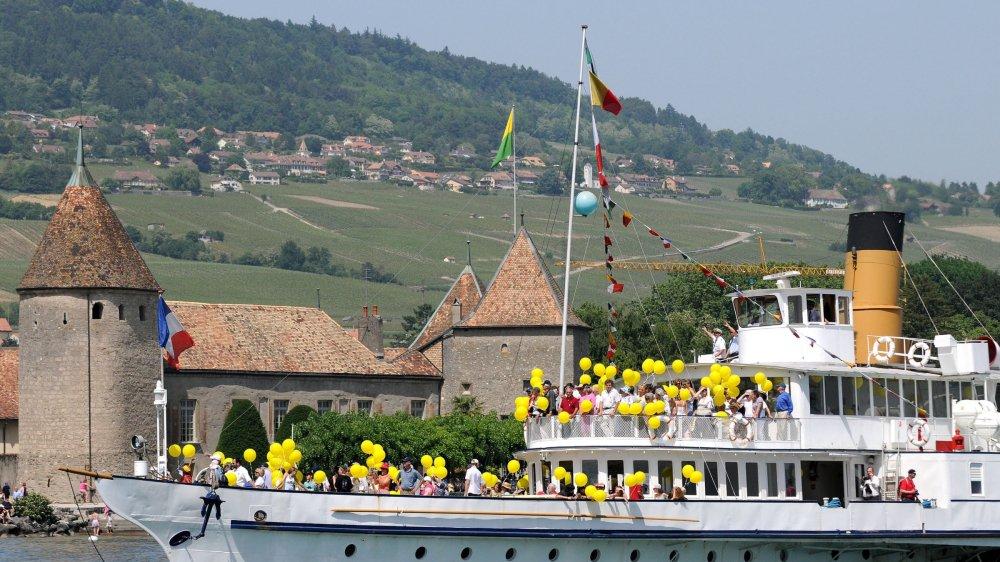 La parade navale de la CGN donne lieu à des chorégraphies que les Rollois ont déjà pu admirer par le passé.