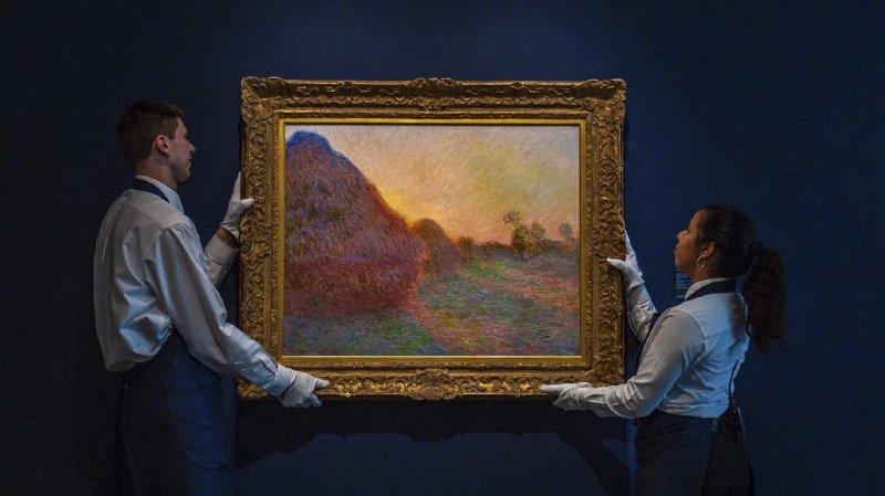 La toile de 72 cm sur 92 fait partie d'une série peinte par Monet alors qu'il séjournait en Normandie durant l'hiver 1890-1891.