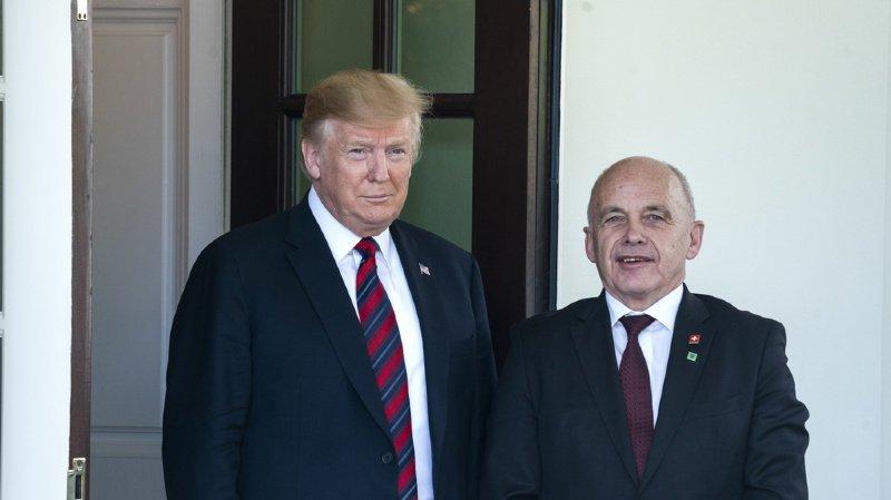 Suisse – Etats-Unis: Ueli Maurer rencontre Donald Trump à la Maison-Blanche