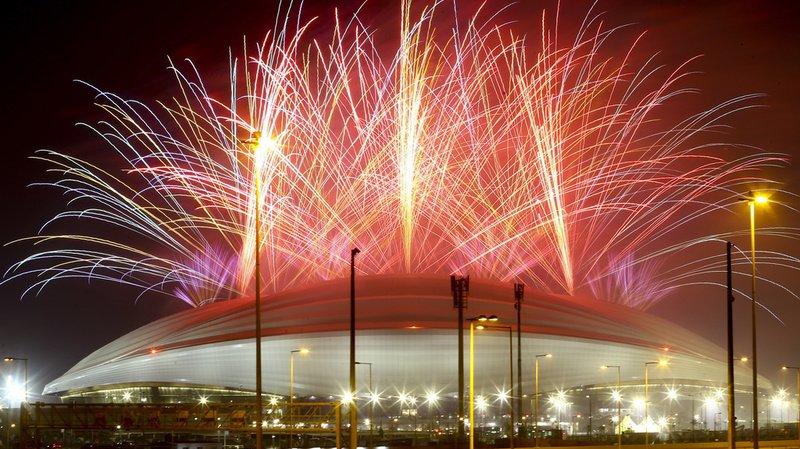 Le Mondial 2022 au Qatar conserve son format original avec 32 équipes. Ici le stade Al Wakrah, inauguré le 16 mai dernier.