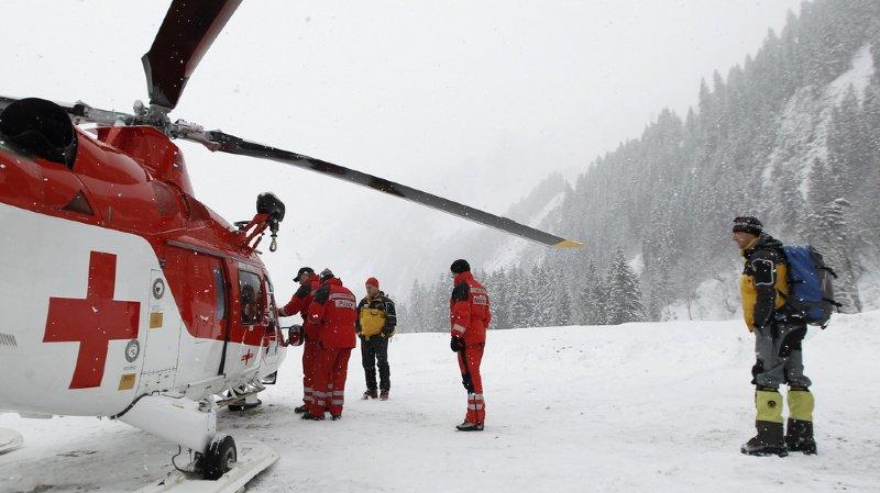 Bagnes: une avalanche emporte sept randonneurs à ski, quatre sont blessés