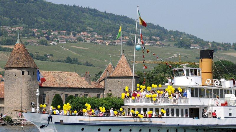 Rolle: pour ses 700 ans, Rolle s'offre une parade navale et une sculpture monumentale
