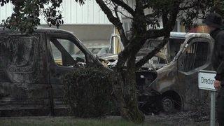 Attaque d'un fourgon de transfert de fonds et véhicules incendiés (nouvelle vidéo)
