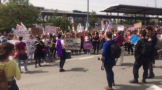 Grève des femmes: les Nyonnaises se sont fait remarquer