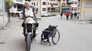 Alain Petter, paraplégique, revivait sa première Rétro Moto au guidon