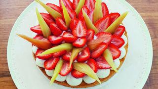 Sablé breton fraise-rhubarbe et vanille