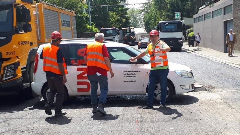Canicule: un syndicat bloque un chantier à Genève pour protéger les ouvriers