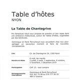 """Table d'hôtes """"Chantegrive"""""""