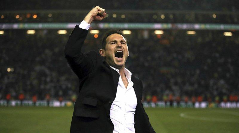 Durant la saison 2018-2019, Frank Lampard a entraîné Derby County en seconde division anglaise. (Archives)