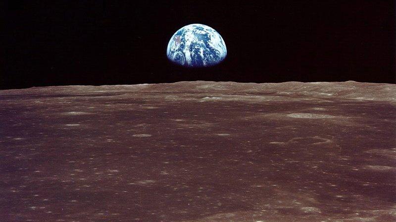 Lever de Terre sur la Lune. Jusqu'à présent, seuls trois pays sont parvenus à se poser à la surface du satellite terrestre.