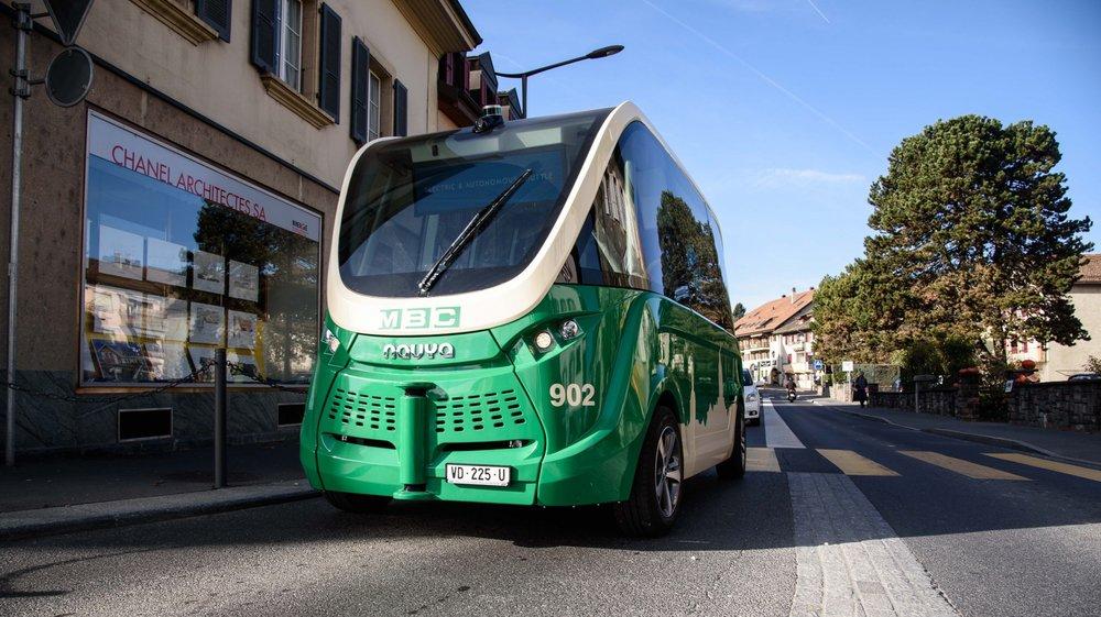 Les navettes autonomes de Cossonay, présentées en 2017, est un projet des MBC.