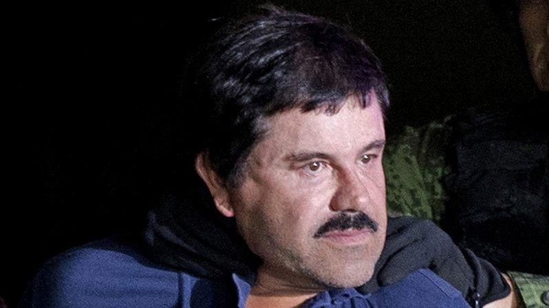 """Le trafiquant de drogue le plus connu de la planète, Joaquin """"El Chapo"""" Guzman, a été condamné mercredi à une peine de prison à vie. (Archives)"""