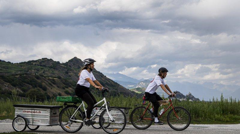 Culture: le cinéma en plein air qui se déplace à vélo à travers la Suisse romande